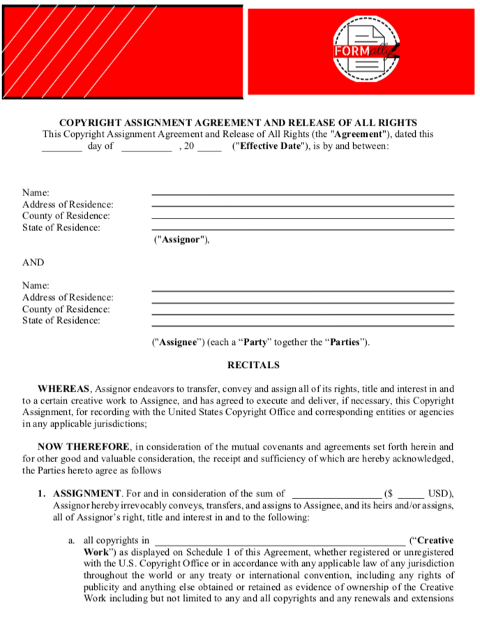 Copyright Assignment Agreement